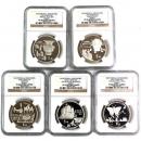 中国銀貨 1992年科学と機械発明発見シリーズ 5種セット