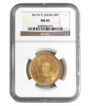 日本1917年(大正6年) 新20円金貨 NGC社MS 65等級