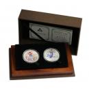 中国 2003年民間神話古史 カラー銀貨 2種セット