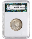 米国1893年クォータードルイザベラ記念銀貨 NCGS社AU58.